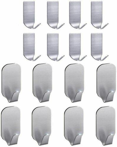 16 Pcs Adhesive Sticky Hooks Heavy Duty Wall Seamless Hooks Hangers