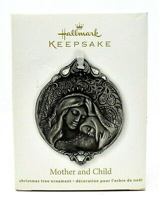 RARE NEW 2012 HALLMARK MOTHER AND CHILD CHRISTMAS ORNAMENT SCARCE VERY BEAUTFUL