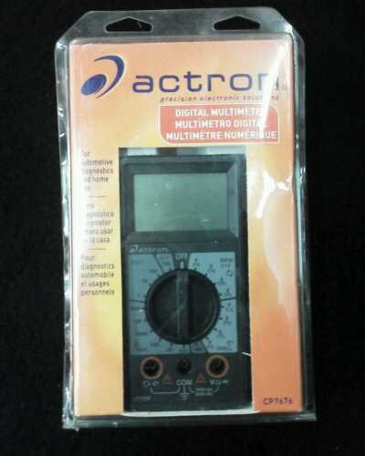 Actron Digital Multimeter CP7676 Test Fuel injectors, Dwell,Tach plus more