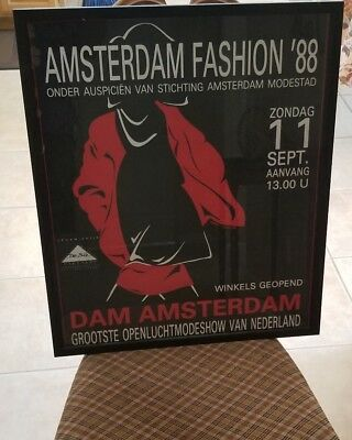ORG SEPT 9 11 1988 AMSTERDAM FASHION POSTER TOM KUITEN DE BIE