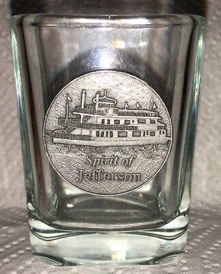Spirit Of Jefferson Riverboat Louisville Kentucky KY Shot Glass Steamboat