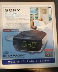 Sony Dream Machine ICF-CD815 FM/AM CD Clock Radio CD-R/RW Playback Alarm Buzzer