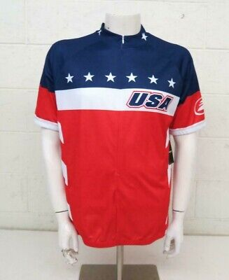 Performance Bicycle USA Flag 3 4-Zip Cycling Bike Jersey Men s XXL NEW  70 8c41523aa