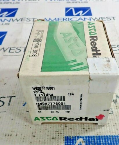 ASCO RED-HAT HV427246001 10.6 WATTS 12/DC PIPE 1/4 GAS SHUT OFF VALVE