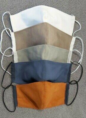 Doppelstoff Baumwolle Atemschutz Mundschutz Maske. Waschbar, Handarbeit.