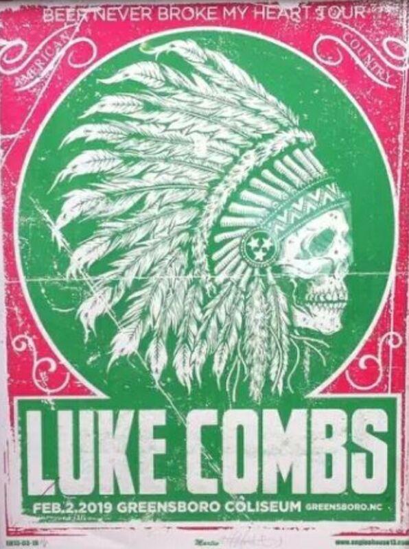 Luke Combs concert poster