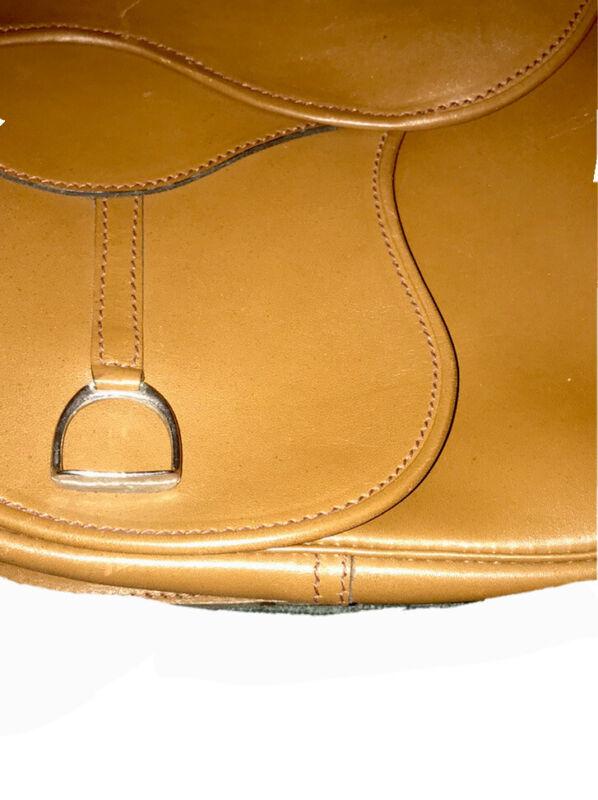 Vintage Saddle Bag Genuine Leather Brown Messenger Shoulder Cross-body Bag