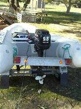 Inflatable Dinghy 3.65m, 9.9hp outboard and trailer Vasse Busselton Area Preview