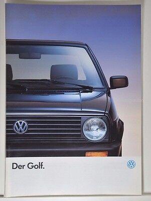 VW Volkswagen Golf 2  CL GL GT GTD Special Prospekt 01/1990