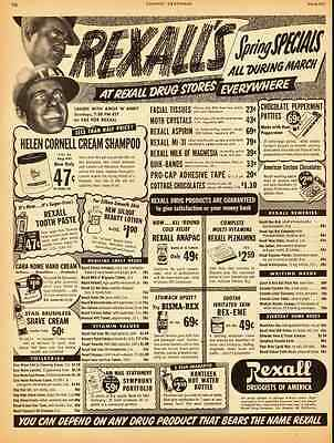 1950 vintage ad, Rexall Drug Store Spring Specials!, Amos & Andy   -021012