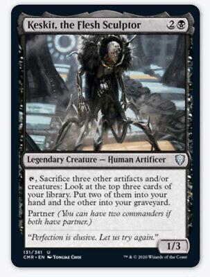 1x Keskit, the Flesh Sculptor NM Commander Legendary Human Partner Black Draw