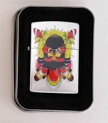 Zippo Lighter Skull Tattoo American Tradition VooDoo Reaper PJ Ferrante 2004 New