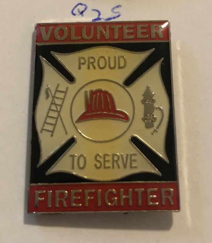 VOLUNTEER FIRE DEPARTMENT FIREFIGHTER BADGE / SHIELD / PIN Mew