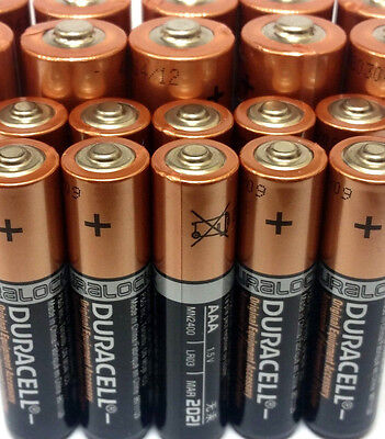 30 AA + 20 AAA Alkaline Duracell Batteries 1.5v Single Use 50 Total Battery Lot