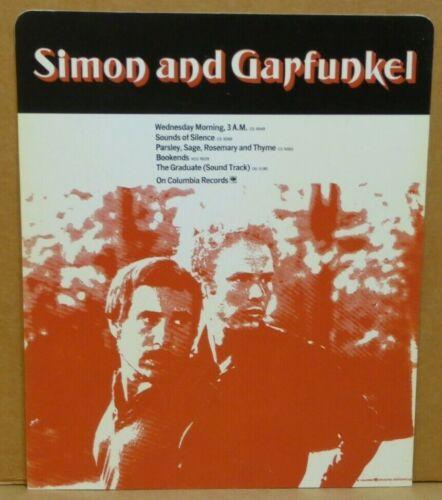Paul Simon and Garfunkel 1970 record store hard plastic ad rack card Columbia