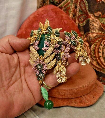 Vintage Stanley Hagler Huge Brooch Earring set w Bee
