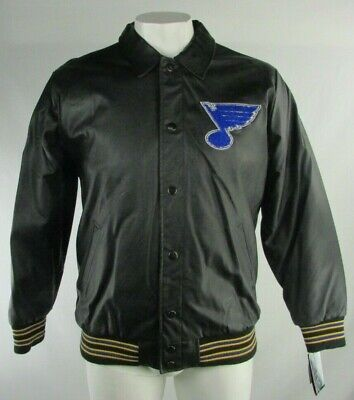 St. Louis Blues Men's Collared Leather Full Zip Jacket NHL