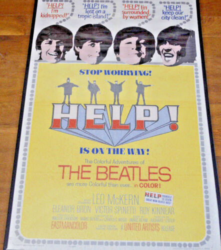 THE BEATLES - HELP! (1965) - One-Sheet Poster - United Artists - Excellent Cond!