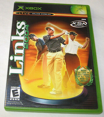 Links 2004 Xbox  2003 Golf E   Everyone Online Enabled Free Shipping U S A