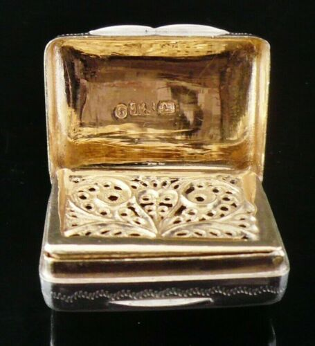 Antique Silver Vinaigrette, Thomas Shaw, Birmingham 1839