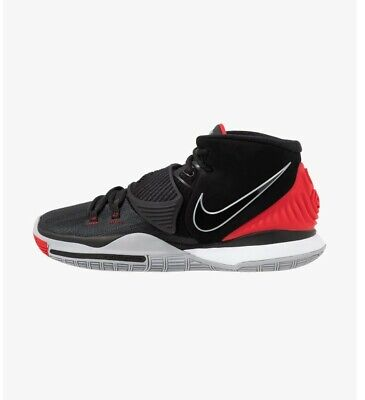 Nike Kyrie 6 'BRED' Basketball Shoes/Black /University Red/ Mens Size UK 8,5.