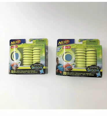 Nerf Vortex Vtx 20 Refill Disc Toys Nerf Guns Soft  2 Packs Hasbro 40 Total