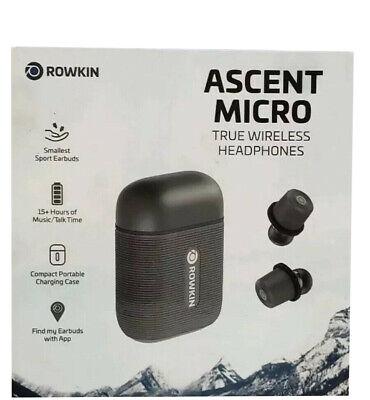 Authentic Rowkin Ascent Micro True Wireless Earbud Headphones Slate Gray
