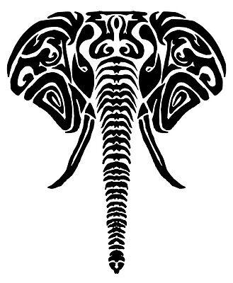 Tribal Elephant vinyl car Decal / Sticker