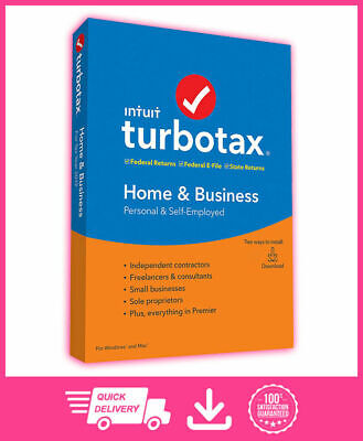 Intuit TurboTax Home & Business 2019 ✔️ LifeTime Activation ✔️ Instant Delivery