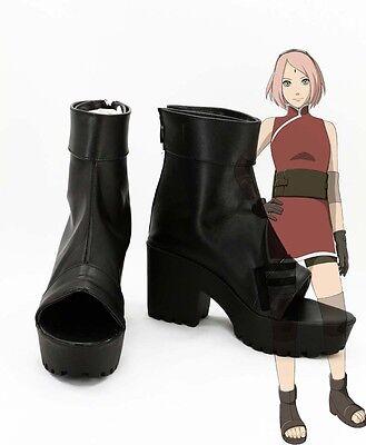 Naruto the last Haruno Sakura shinobi ninja Cosplay Schuhe Kostüm Shoes - Ninja Kostüm Schuhe