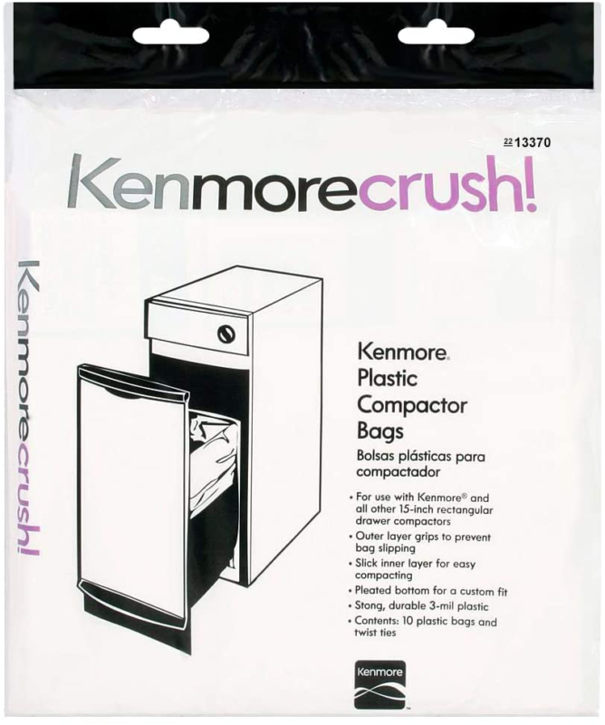 60Ct Plastic Trash Compactor Bags Kenmore Ge Frigidaire Whir