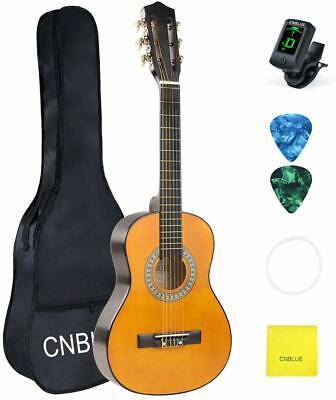 Kid Beginner Guitar Classical Guitar Acoustic Guitar 1/2 Half Size 30 inch Tuner