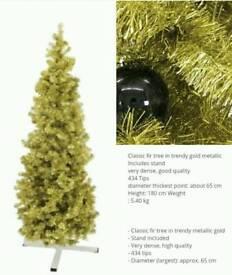 Christmas tree metallic Gold