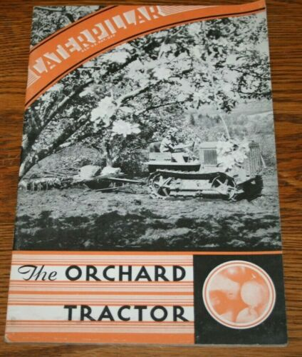 Caterpillar Orchard Tractor Advertising Sales Brochure