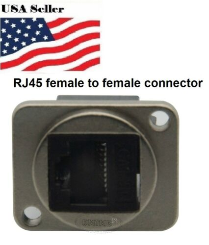 Panel mount CAT6 RJ45 connector mounting