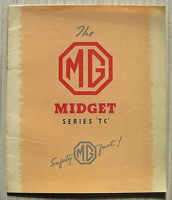 MG MIDGET SERIES TC Car Sales Brochure 1949