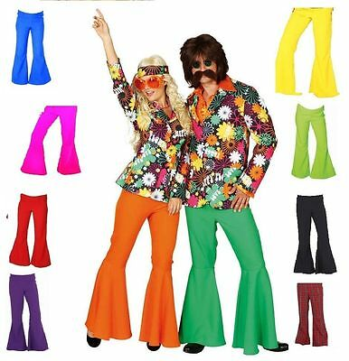 70er 80er Jahre Schlaghose Damen Herren Hose Kostüm Flowerpower Hippie - Hippie Kostüm Hose