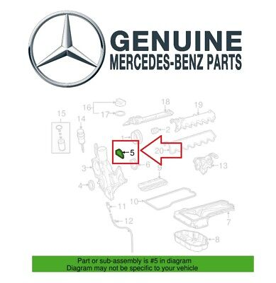 Driver Left Engine Timing Cover Gasket Seal Genuine For Mercedes W222 C216 (Mercedes Benz Timing Cover Seal)