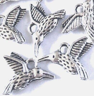 20 Silver Pewter Flying Bird Charm 13x16mm ~ Lead-Free ~