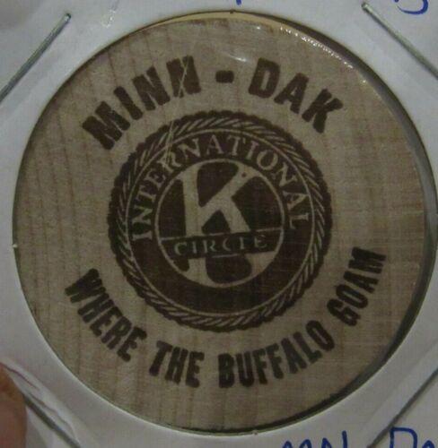 Vintage Minnesota Dakota International Kiwanis Circle Wooden Nickel - Token
