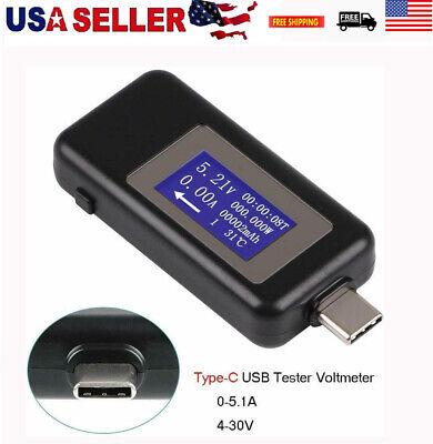 Type-c Usb Tester Voltmeter Meter Multimeter Display Voltage Current Detector