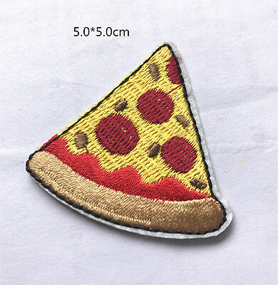 Diy Pizza (DIY Pizza Sewing Embroidery On Patch Stickers Badge Embroidered Fabric)