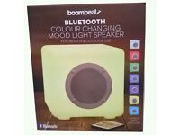 BOOMBEATZ colour changing mood light Speaker with Bluetooth brand new boxed