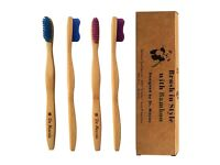 Bamboo toothbrush – Dentist Designed – 4 Count Value Pack – Gum Protection - Blessing from Nature
