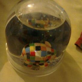 Elma the elephant snow globe add your own pictures new