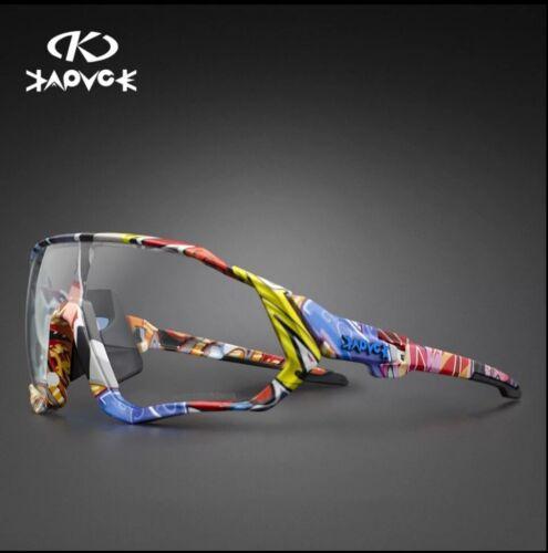 KAPVOE Photochromic Cycling Sunglasses Unisex TR-90 Road Mountain Bike Glasses