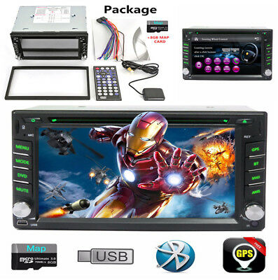 """1x Bluetooth Car Stereo HD DVD CD Player 6.2"""" Double 2Din Auto Radio iPod Stereo"""