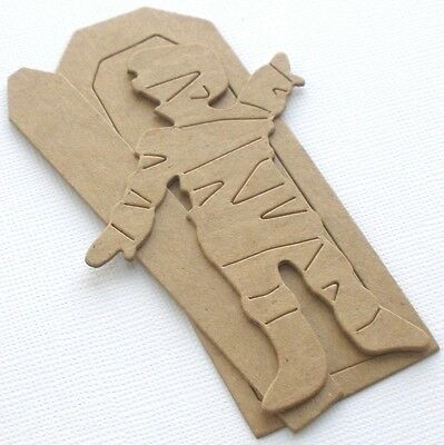 {3 Sets} *MUMMY & COFFIN* Mummies Halloween Bare Chipboard Die Cuts - 3