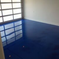 Epoxy, polished concrete, garage floors