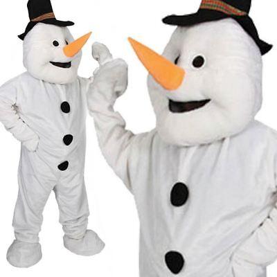Deluxe Snoman Maskottchen Herren Kostüm Weihnachten Maskottchen - Weihnachts Maskottchen Kostüm